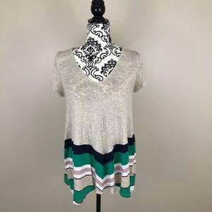 Anthropologie Puella short sleeved flowy shirt
